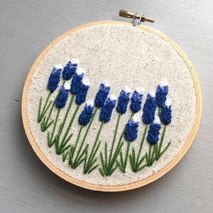 Bluebonnet embroidery