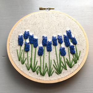 Texas Wildflower Embroidery