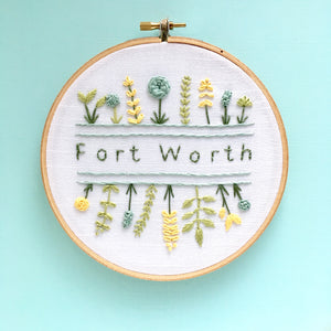 Fort Worth Texas Embroidery Art