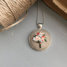 bouquet embroidery necklace