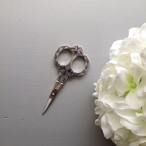 Silver Vintage Style Embroidery Scissors