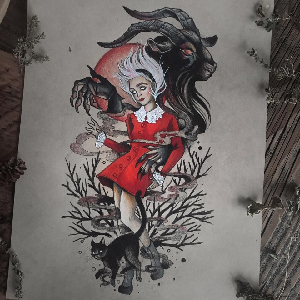Chilling Aventures Of Sabrina Art  Print