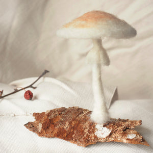Destroying Angel Felt Mushroom