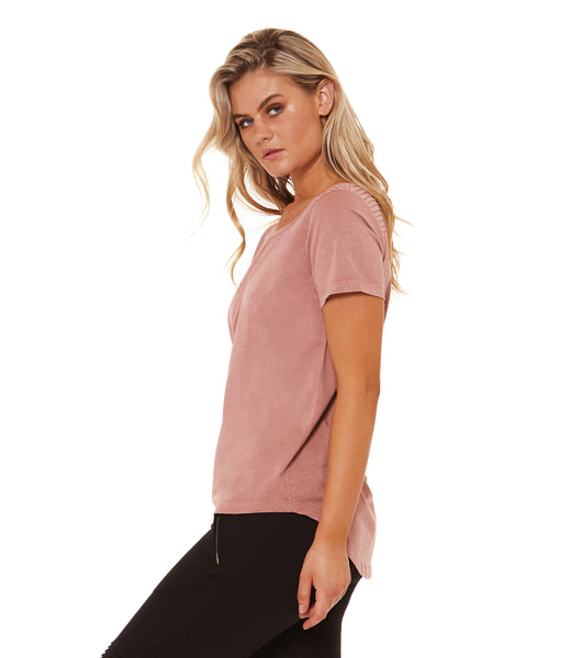 With the Girls Tee - Vintage Rose