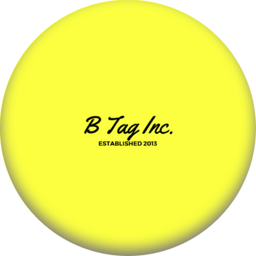 B Tag Inc Classic PopSocket (Yellow Edition)