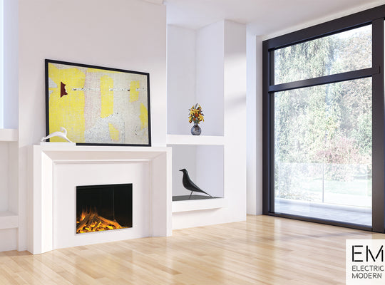 tall modern electric fireplace with easy installation for any space