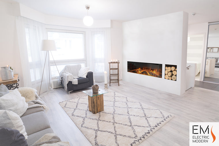 E40: Single-Sided Electric Fireplace