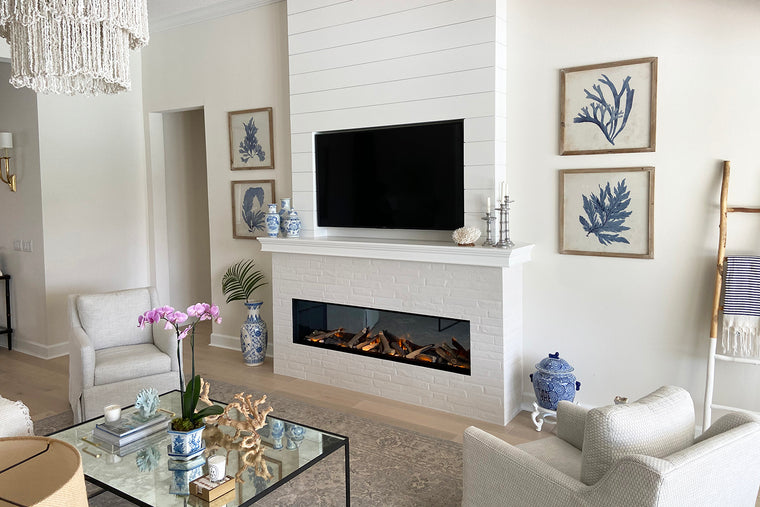 E72: Single-Sided Electric Fireplace