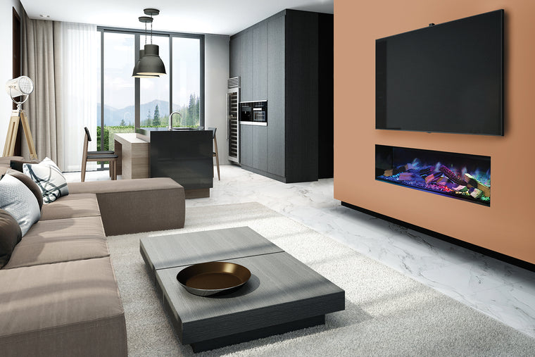 Linnea Halo: Single-Sided Electric Fireplace