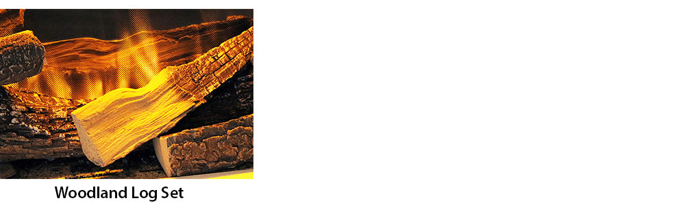 Highly realistic log set fire media for electric modern electric fireplaces.