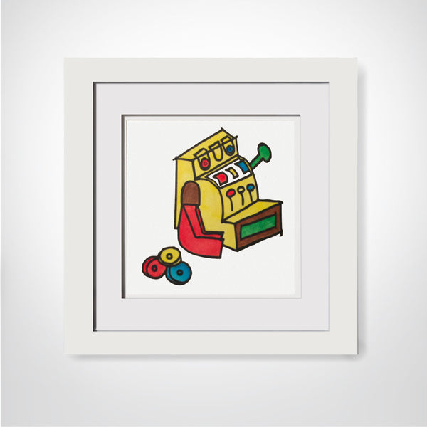 Fisher Price Cash Register - Watercolor Print
