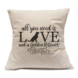All You Need Is Love And A Golden Retriever - Pillow