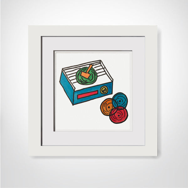 Fisher Price Record Player - Original Watercolor