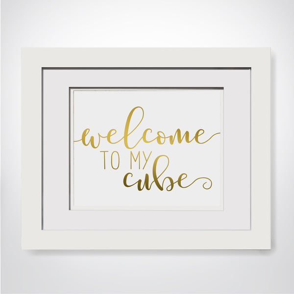 Welcome To My Cube|Funny Cubicle Decor|Cubicle Accessories|Work Desk Decor|Cute Coworker Gift|Cubicle Wall Decor|Modern Cubicle Decor Art