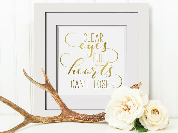 Clear Eyes Full Hearts Cant Lose