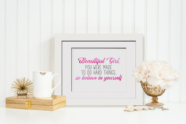 Beautiful Girl - Watercolor Print