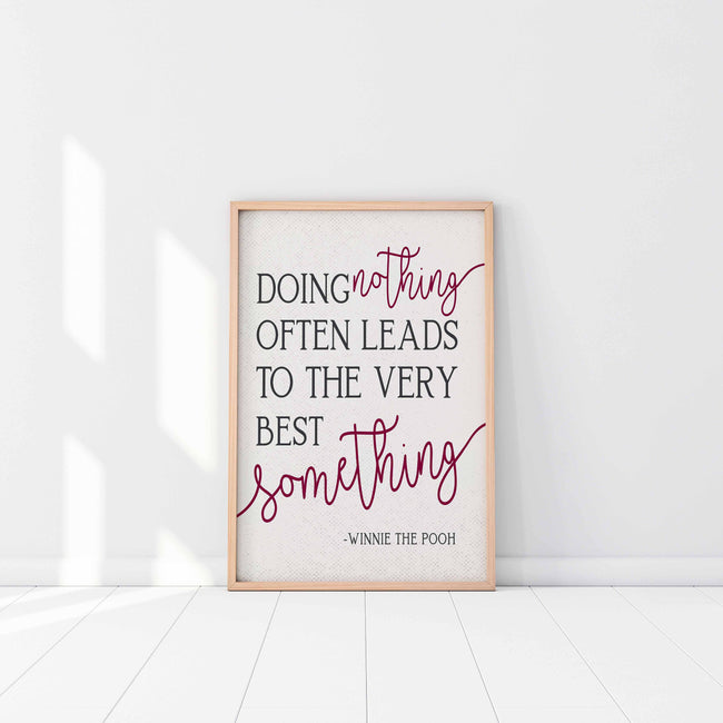Doing Nothing|Often Leads|Very Best Something|Gift For Godson|Goddaughter Gift|Baptism Gift For Baby|First Communion Gift|Nursery Wall Art