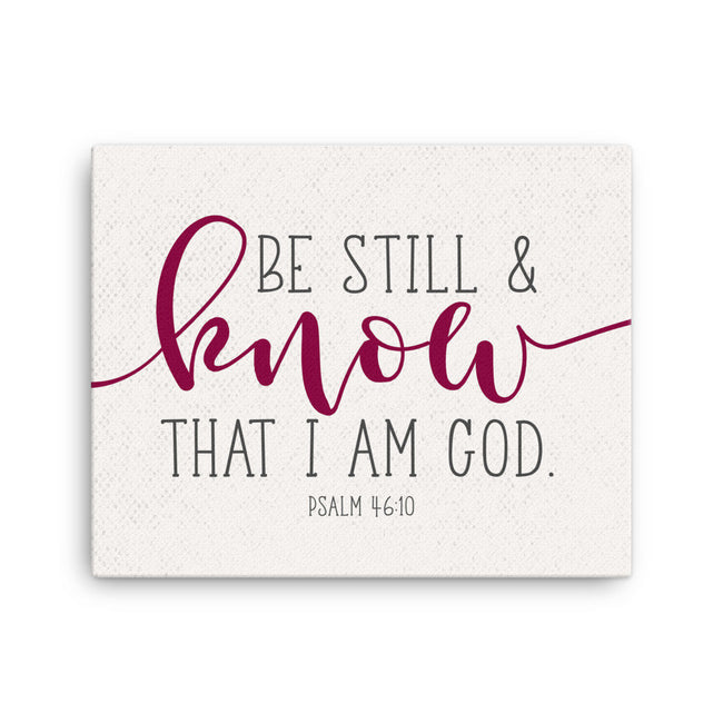 Be Still And Know, That I Am God, Bible Verse Wall Art, Canvas, Psalm 46, Loss Of Father Gift, Unique Baptism Gift, Godchild Gifts