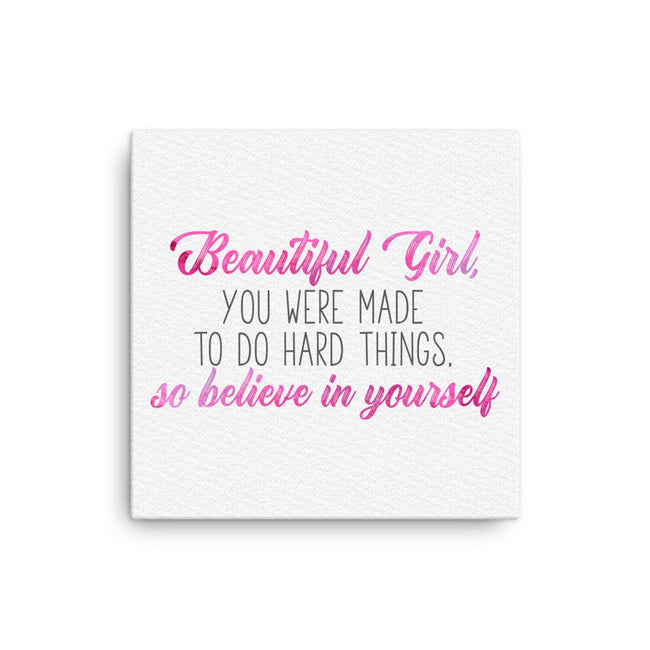 Beautiful Girl Quote - High School Graduation Gift for Daughter From Dad