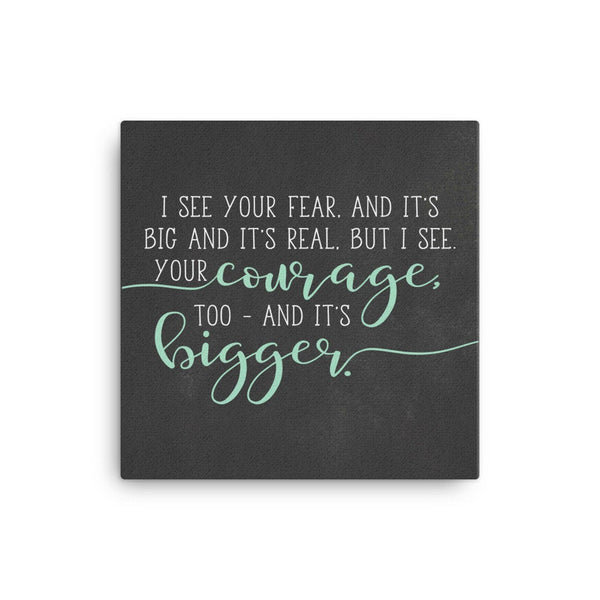 Faith Over Fear, Quote On Canvas, College Student Gift, Twin Mom Gift, Work Desk Accessories, Push Present For Mom, Graduation Gift, Courage