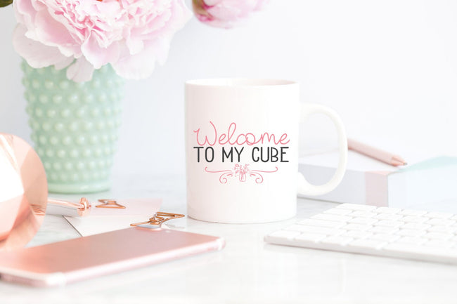 Welcome To My Cube Mug/Office Mug Gift For Coworker/Boss Appreciation/Boss Present/Workstation Decor/Cute Cubicle/Desk Decor/Cubicle Decor