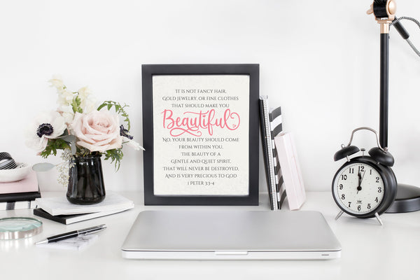 Bible Verse Baby Girl Nursery Decor