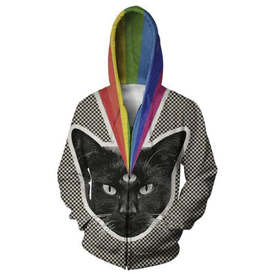 3rd Cat Eye Mens Womens Hooded Sweatshirt