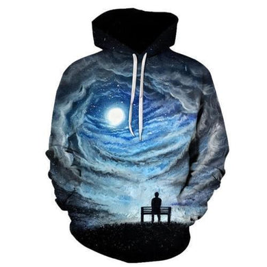 Dimension Sky Space Man Mens Womens Hooded Sweatshirt