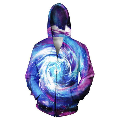 Space Swirl Galaxy Mens Womens Hooded Sweatshirt