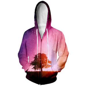 Twighlight Tree Mens Womens Hooded Sweatshirt