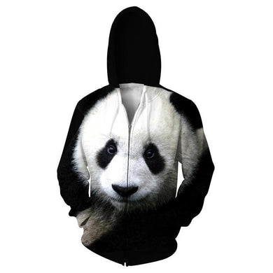 Panda Bear Mens Womens Hooded Sweatshirt