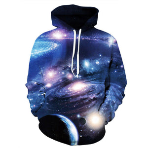 Galaxy Swirl Space Mens Womens Hooded Sweatshirt