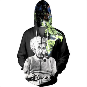 Albert Einstein Mens Womens Hooded Sweatshirt