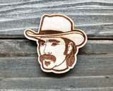 Doc Holliday Wooden Pin