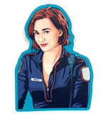 Heart Eyes Haught Sticker