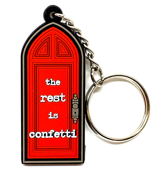 Red Room Door Keychain
