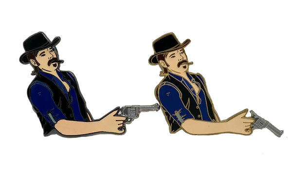 Doc Holliday Spinning Gun Pin (Choose Variant)