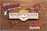 Shorty's Saloon Wooden Pin