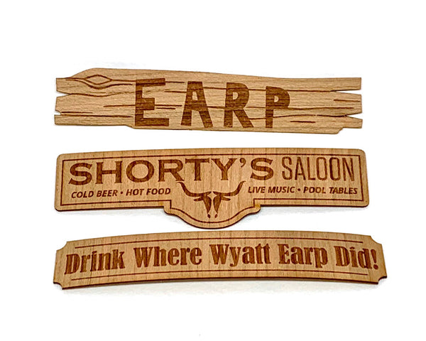 Wooden Sign Small Sticker Set