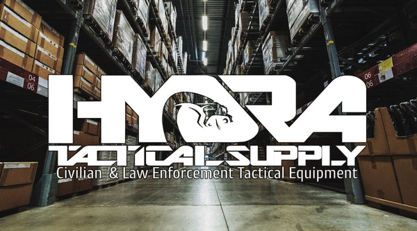 Hydra Tactical Supply logo and warehouse