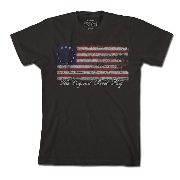 1776 United Original Rebel Flag Men's T-Shirt