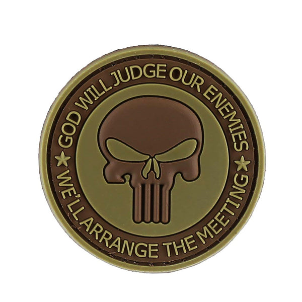 DDT Punisher God Will Gudge PVC Morale Patch