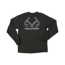 Realtree Carbon Fiber Logo Longsleeve Men's T-Shirt