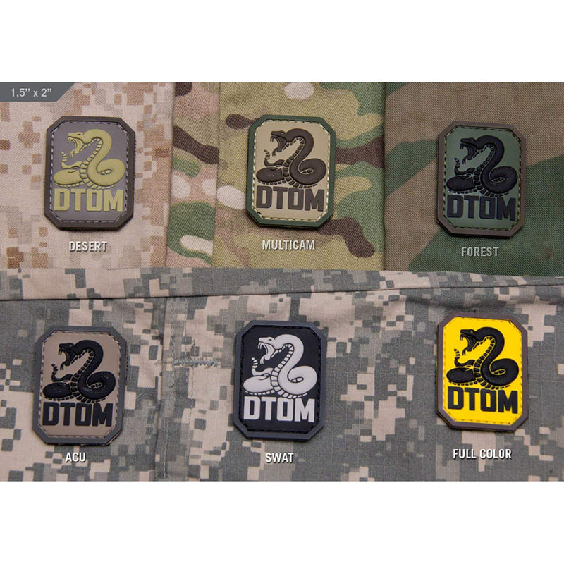 Mil-Spec DTOM PVC Patch