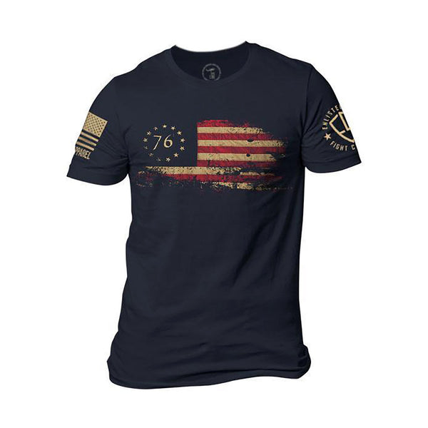 Nine Line Enlisted 9 76 Flag Men's T-Shirts