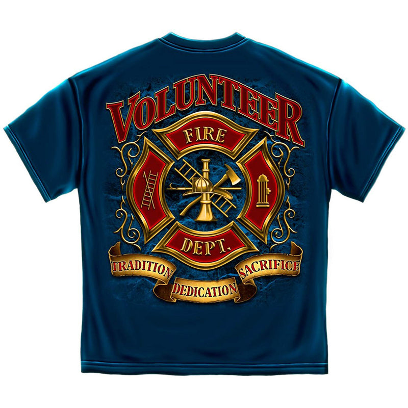 Erazor Bits Volunteer Firefighter Men's T-Shirt