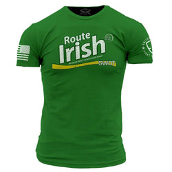 Grunt Style Enlisted 9 Route Irish Men's T-Shirt