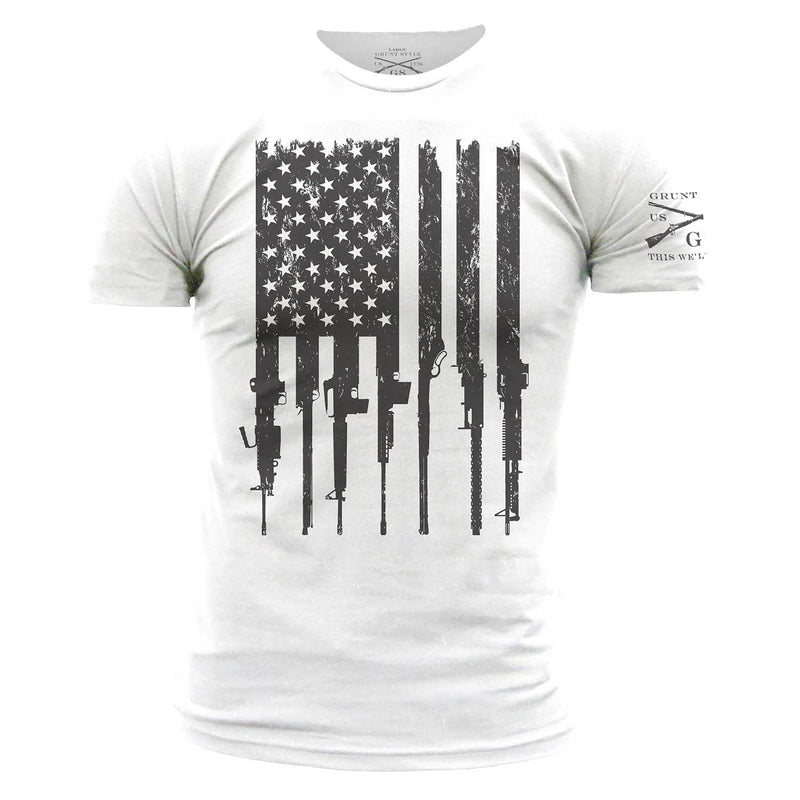 Grunt Style Rifle Flag Men's T-Shirt