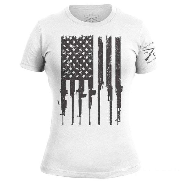 Grunt Style Rifle Flag Women's T-Shirt