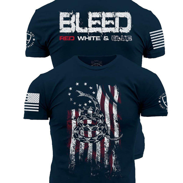 Grunt Style Enlisted 9 Bleed Red White And Blue Men's T-Shirt